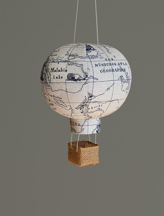 Travel Nursery Decor Hot Air Balloon Nursery Decor Baby