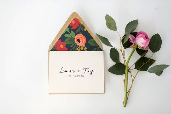 louisa personalized thank you cards +  lined envelopes (sets of 10) // lola louie paperie