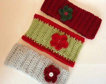 3-Pack Crochetted Headbands