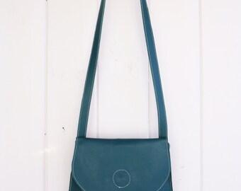 Saddle Bag Cross Body in Teal Blue