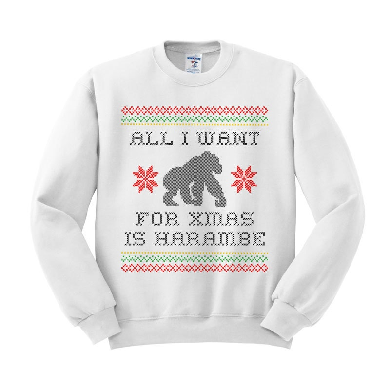 Harambe Christmas Sweatshirt Christmas Party Gorilla Shirt