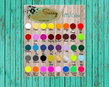 HTV Color Chart-Siser Easyweed Digital Chart-HTVColors-Etsy Marketing
