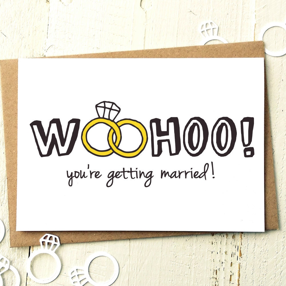 Funny Wedding Card Engagement Card Wedding Day Cards
