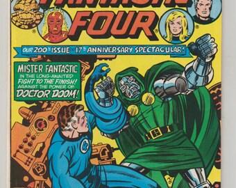Fantastic Four, Vol 1, 200, Bronze Age Comic Book. NM-. November 1978.  Marvel Comics
