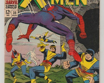 Uncanny X-Men; Vol 1, 35 Silver Age Comic Book. VG/FN. August 1967.  Marvel Comics