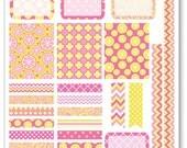 Pink Lemonade Decorating Kit / Weekly Spread Planner Stickers for Erin Condren Planner, Filofax, Plum Paper