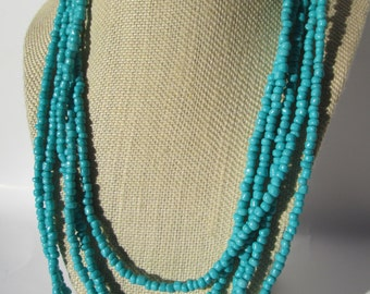 Tropical Teal Layered Necklace