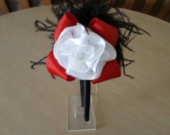 Red Headband, White Headband, Black Headband, Plastic Headband, Flower Girl Headband, Christmas Gifts