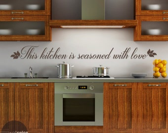 This Kitchen Is Seasoned With Love Vinyl Wall Decal Sticker