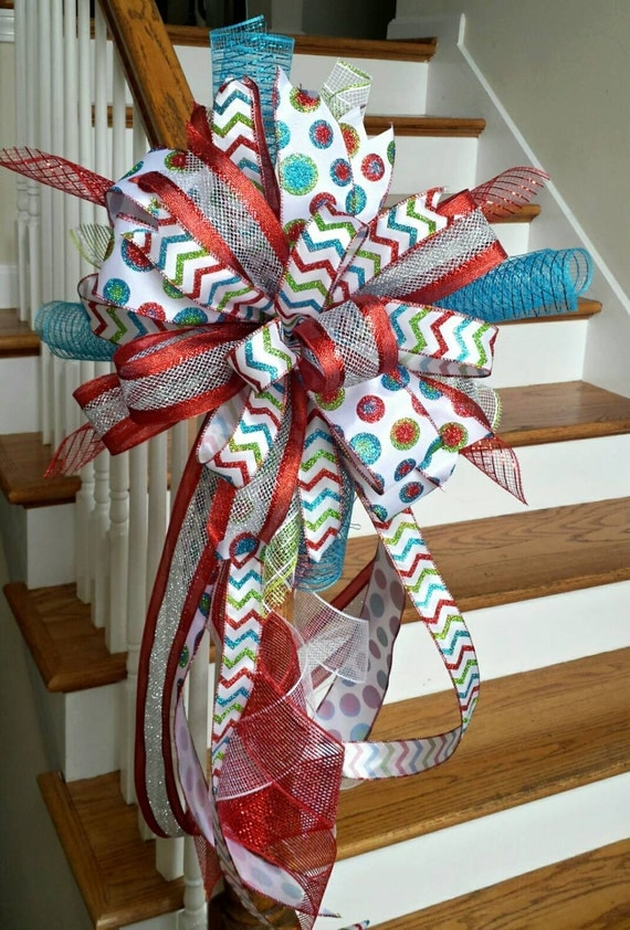 christmas tree topper bow holiday deluxe by southernwreathsal. Black Bedroom Furniture Sets. Home Design Ideas