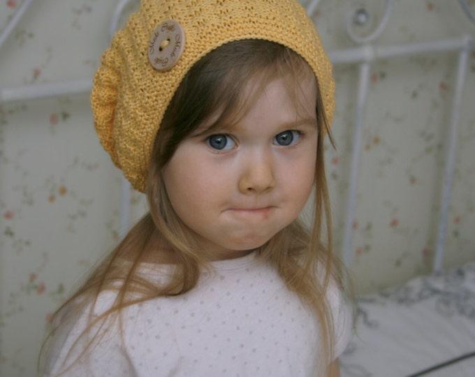 KNITTING PATTERN basic slouchy hat Karen (toddler, child to adult sizes)