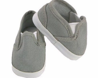 Canvas Slip On Shoe for Boy Doll 4 colors