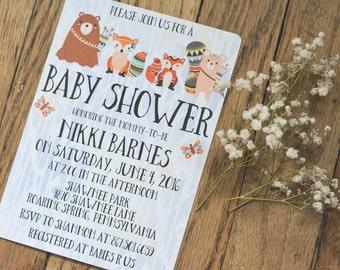 RUSTIC Baby Shower Invitations #1