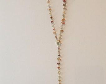 Sun Multicolored Agate Stone Necklace