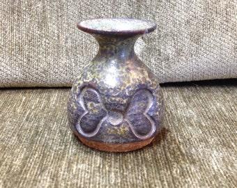 Bennington Mini Pottery Vase Jug Butterfly Design, Miniature Pottery Vase Jug, Bennington Potters, Vermont,