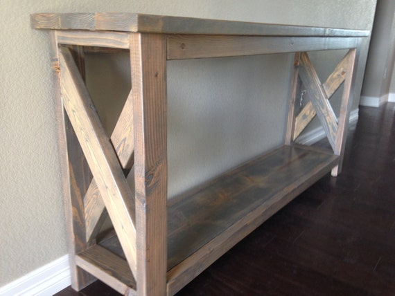 Custom Entry Way Hallway Sofa Table Solid Wood Pine