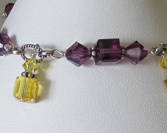 LSU Colors! Swarovski Bracelet