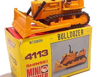 Vintage Shinsei 4113 Mini Power Mitsubishi Bulldozer in Box