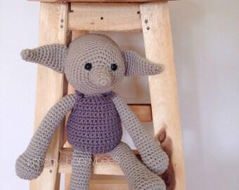 Crochet Dobby the House Elf doll/stuffed animal/plush