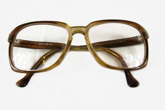 Vintage Eyeglass Frames SRO 145 USA Oversized Plastic Frame