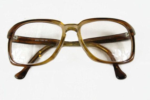 Eyeglass Frame Usa : Vintage Eyeglass Frames SRO 145 USA Oversized Plastic Frame