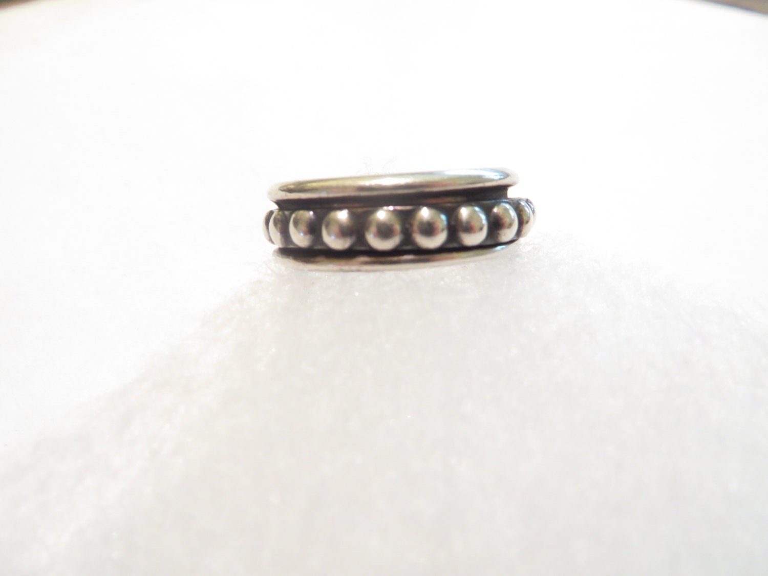 vintage spinning mexican sterling silver ring