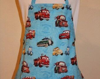 Child's Medium Blue Apron - Pixar  Cars