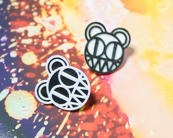 Radiohead Bear // 3D Printed Pin