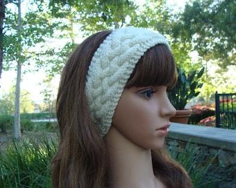 DIY- Knitting PATTERN #120: Cable Knit Headband, Knit hairband, Knit hair accessory, Knit ear warmer, Size Teen/Adult, PDF Digital Pattern