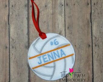 Volleyball Ornament - Custom Felt Volleyball Ornament - Personalized Volleyball Ornament - Volleyball Team Gift - Volleyball Coach Gift