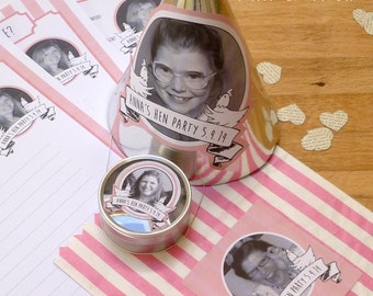 Personalised Hen Party Quiz Activities and Accessories Pack