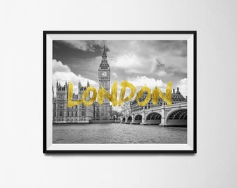 london, london wall art, wall art, london art, wall decor, london poster, home decor, printable london, travel poster, london print
