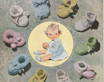 Soft Crib Shoes Take Home Outfit Boy Christmas Gift Ideas Knit Pattern Baby Booties Knitting Pattern PDF Pattern Instant Download 32 Designs