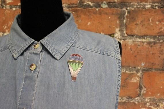 Hot Air Balloon Brooch Pin