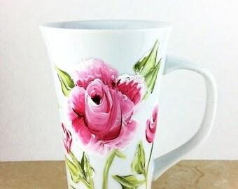 Latte Mug, Coffee Mug, Customized Latte Mugs, Porcelain Mugs, Personalized Mug, Specialty mugs, Porcelain Latte Mug, Latte Mugs, custom mugs
