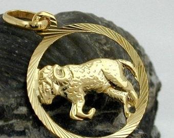 Zodiac pendant, Aries, 9K GOLD