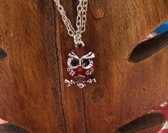 Wise Owl Enamel Pendent Necklace