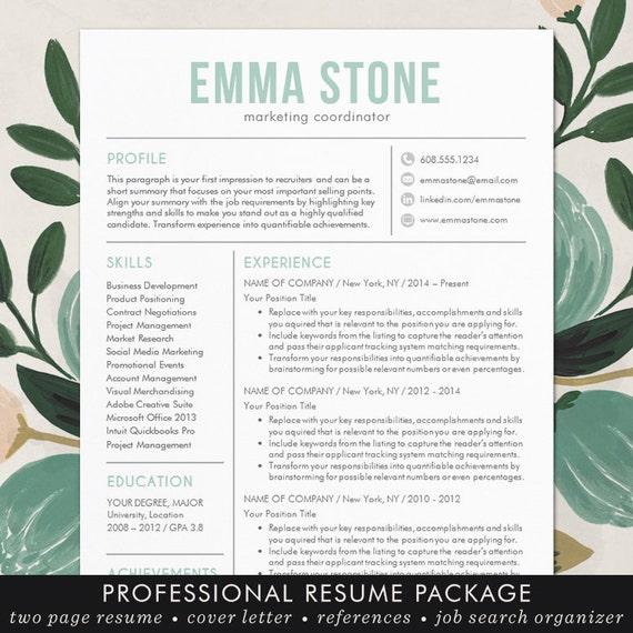 creative resume template modern design mac by theshinedesignstudio