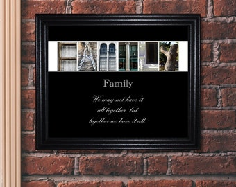 Family Quote Print, Family Quote, Inspirational Sign, Family Sign, Alphabet Photography, Inspirational Quote
