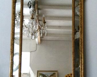 Antique mirror, French gold mirror, XIX century