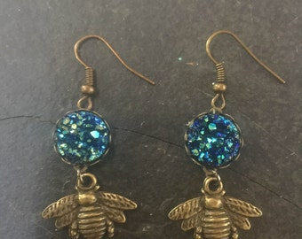 bee druzy | earrings