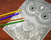 Owl 3 Detailed Colouring ...