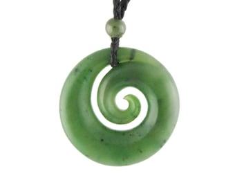Canadian Nephrite Jade Pendant, 3380-1