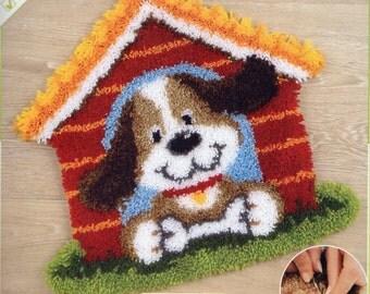 DOG HOUSE Latch Hook Rug Making Kit, Brand New