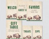 Printable Bison Baby Show...