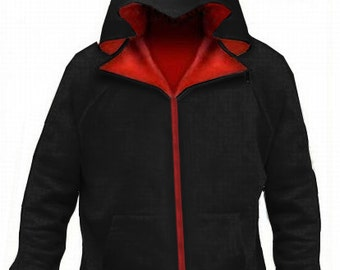 Assassin hoodie black for all fans of assassin universe red inline