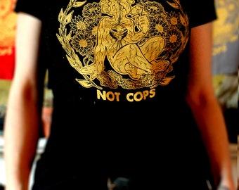 Talk To Plants Not Cops Shirt Black