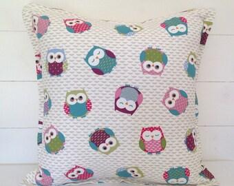 Owls Cushion Cover, Owls Pillow Cover, Cute Owls Cushion Cover