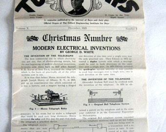 Gilbert Toy Tips by A. C. Gilbert, December 1921