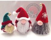 Santa Gonk Christmas Decorations - Crochet PDF Pattern